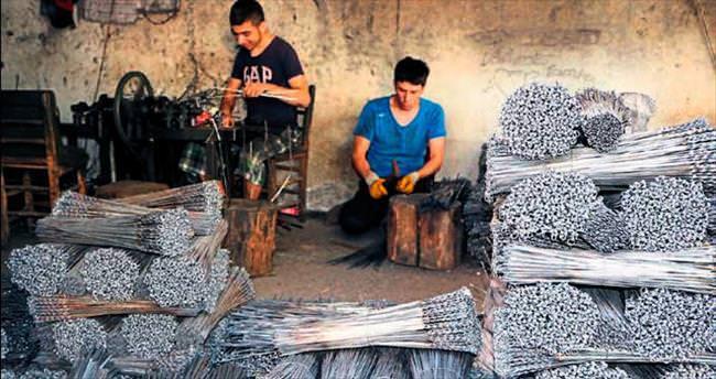 Yılda 4 milyon tane kebap şişi ihraç ediyor