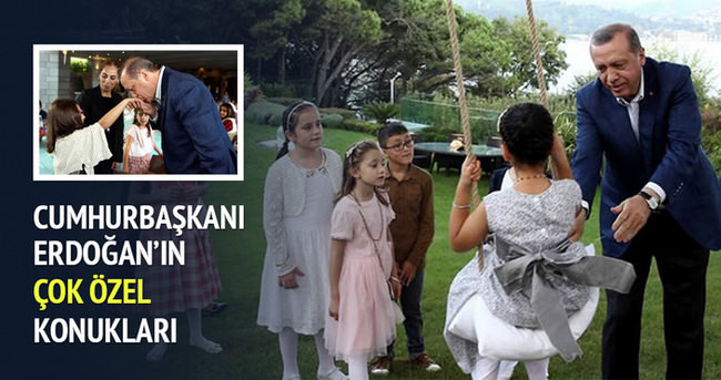 Cumhurbaşkanı Erdoğan çocuklarla bayramlaştı