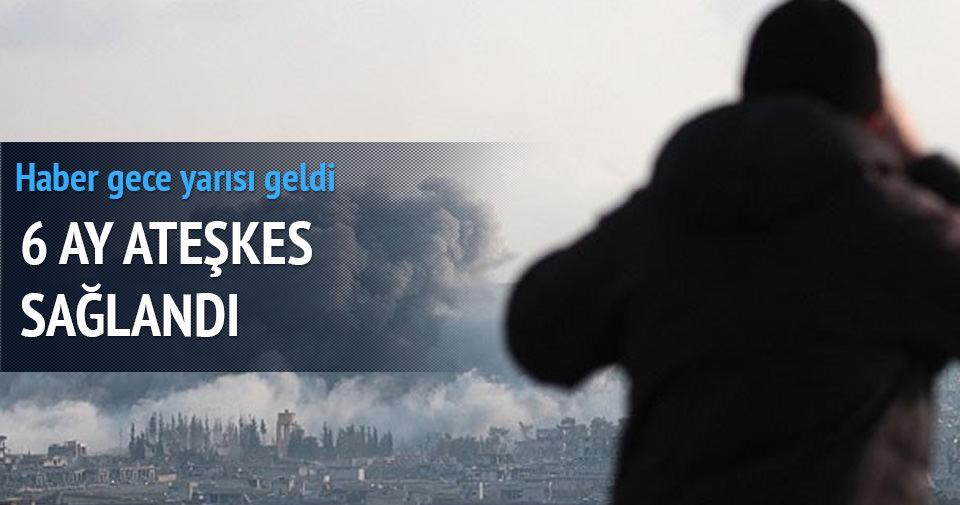 Suriye'de 3 bölgede 6 ay ateşkes sağlandı