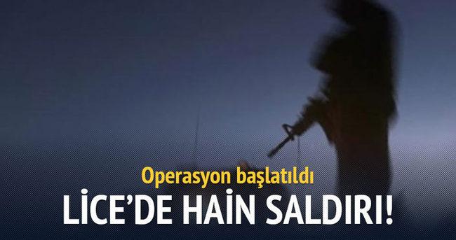 Lice'de askere saldırı: 1 yaralı