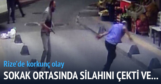 Rize'de tartıştığı akrabasını sokak ortasında vurdu
