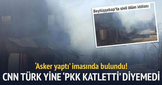 CNN Türk yine 'PKK katletti' diyemedi