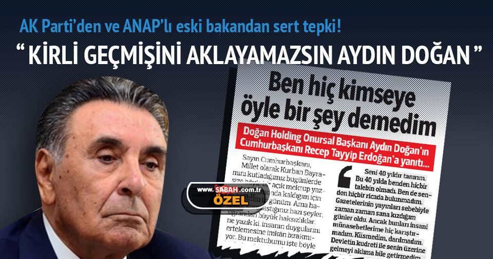 AK Parti'den ve ANAP'lı eski bakandan sert tepki