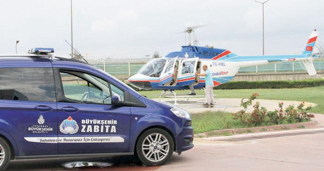 İBB zabıta ekipleri havadan denetledi