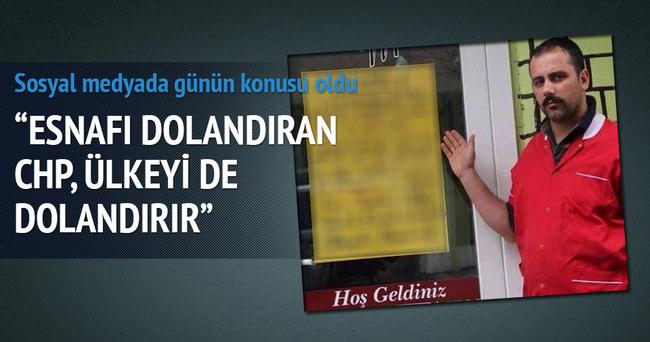 CHP'liler esnafı dolandırdı iddiası
