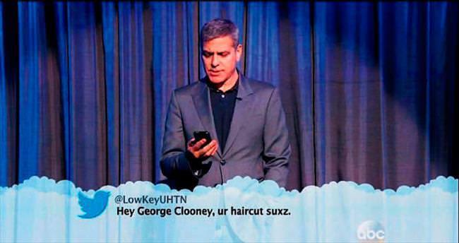 'George saç modelin berbat!'