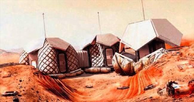 Mars'ta bu evlerde yaşanacak