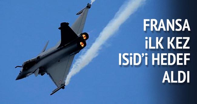 Fransa ilk kez Suriye'de IŞİD'i hedef aldı