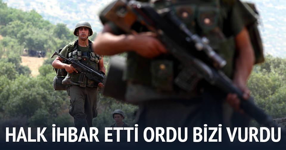 Halk ihbar etti TSK vurdu