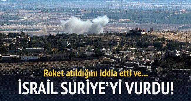 İsrail Suriye'yi vurdu