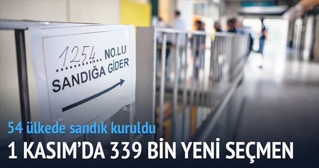 339 bin yeni seçmen 1 Kasım'da sandıkta