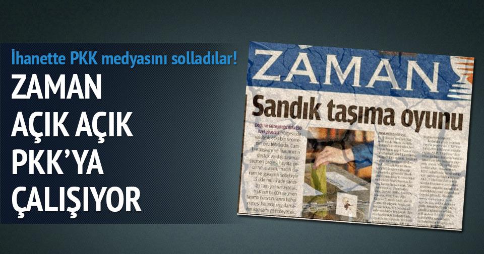 Zaman Gazetesi açık açık PKK'ya çalışıyor!