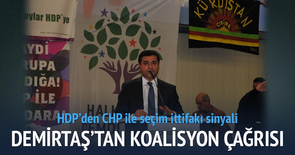 Demirtaş'tan CHP ile koalisyon sinyali!