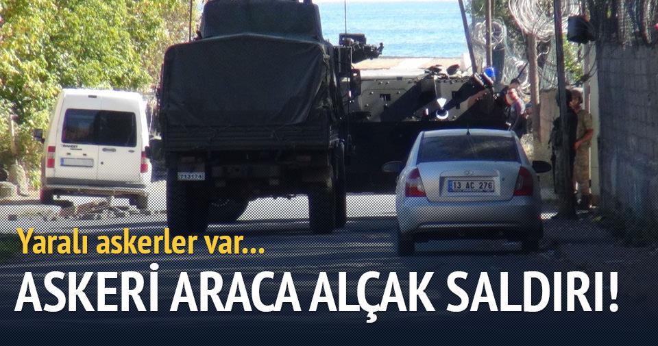 Bitlis'te askeri servis aracına saldırı