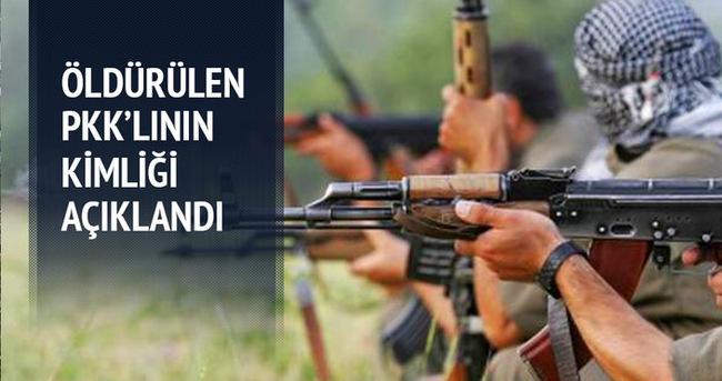 Öldürülen PKK'lının kimliği açıklandı
