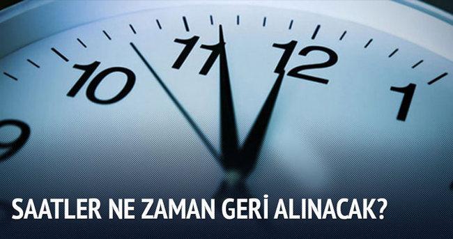 Saatler ne zaman geri alınacak? Kış saati uygulaması ne zaman başlıyor?