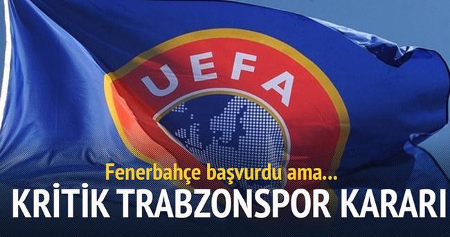 UEFA'dan kritik Trabzonspor kararı