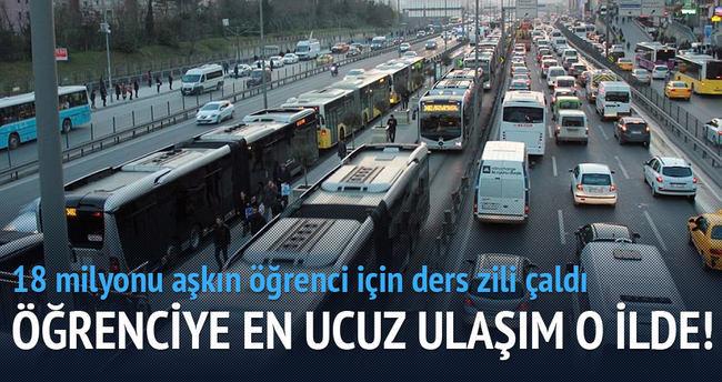 En ucuz ulaşım İstanbul'da