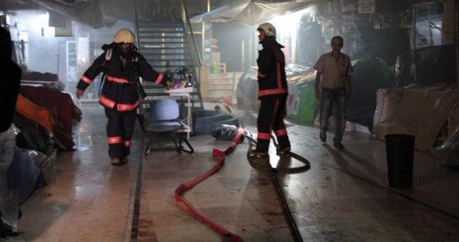 Kapalıçarşı'da yangın paniği