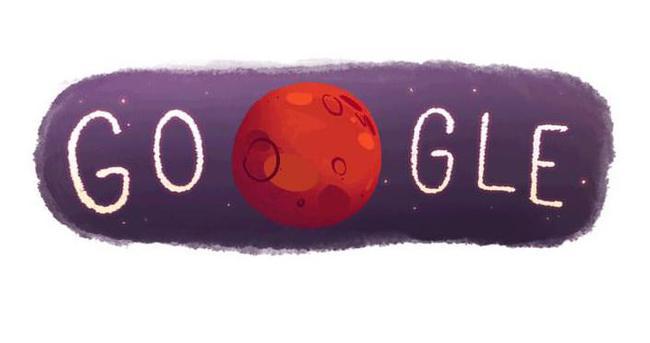 Mars'ta su bulundu, Google Doodle yaptı!