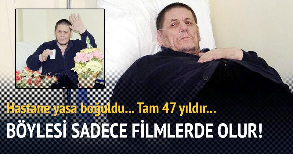 47 yıldır yattığı hastanede yaşamını yitirdi!