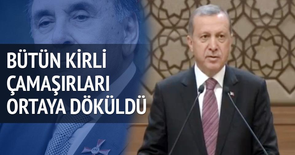 Erdoğan: Bütün kirli çamaşırları ortaya döküldü
