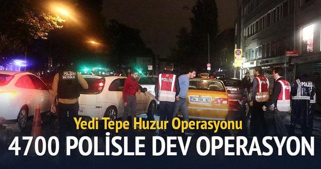 İstanbul'un 39 ilçesinde 4 bin 700 polisle operasyon