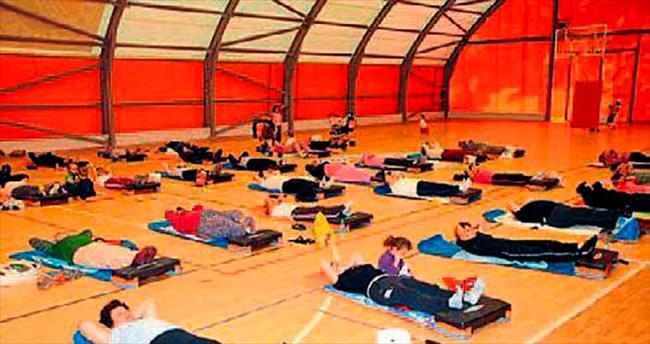 Kepezli kadınlara aerobik ve pilates