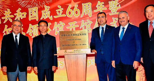 Çin Başkonsolosluğu İzmir'de törenle açıldı