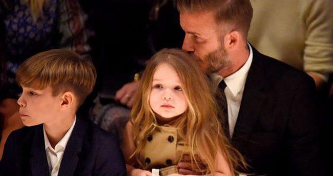 David Beckham kızının saçlarına kıyamıyor