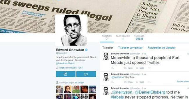 Edward Snowden Twitter'a girdi