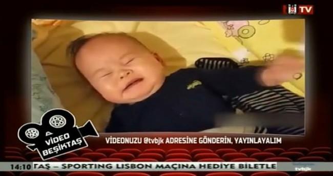 Aziz Yıldırım konuşurken BJK TV'de ağlayan bebek