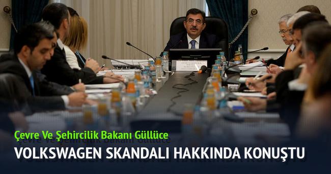 Çevre ve Şehircilik Bakanı Güllüce, Volkswagen skandalı hakkında konuştu