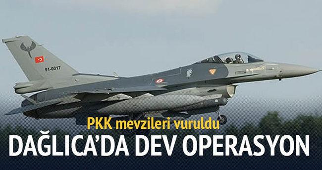 Dağlıca'da 24 terörist hedefi savaş uçakları ile vuruldu!