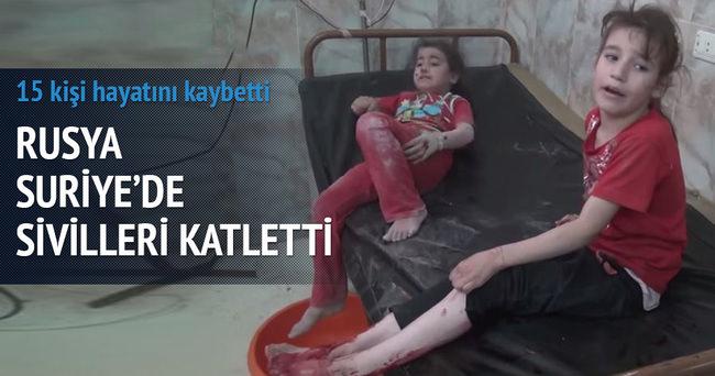 Rus uçakları Suriye'ye saldırdı: 15 sivil öldü