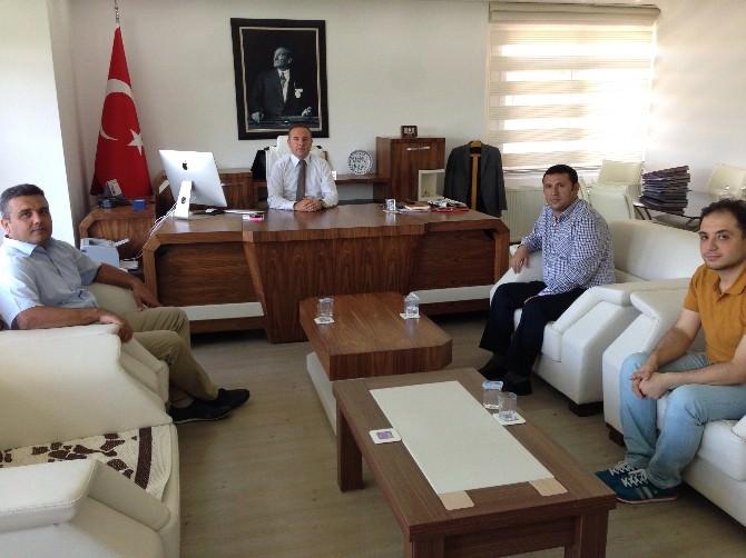 Elmalı MYO Yönetiminden Kaymakam Saltaş'a Ziyaret