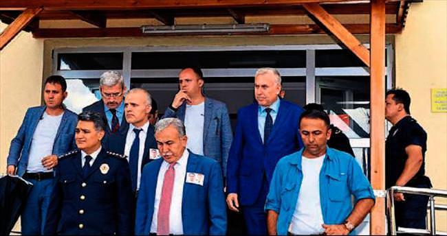 Vali Mustafa Büyük'ten karakola moral ziyareti