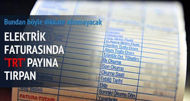 Elektrik faturasında TRT payına tırpan