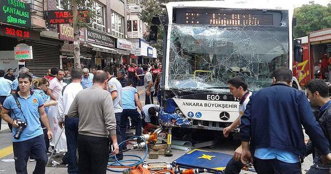 Ankara'da otobüs kazası!