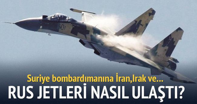 Rus jetleri Suriye'ye nasıl ulaştı?