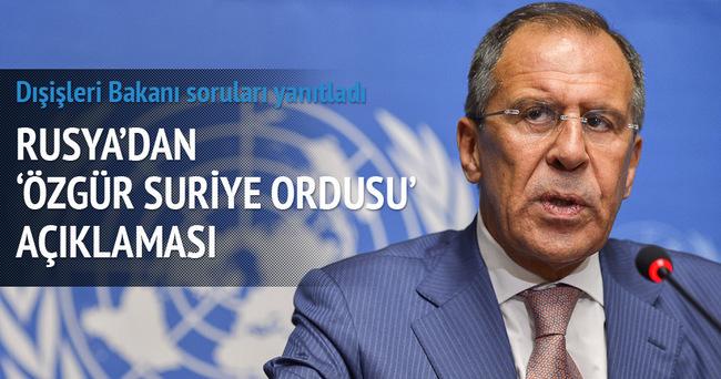 Suriye'de sivillere bomba yağdıran Rusya'dan 'Özgür Suriye Ordusu' açıklaması