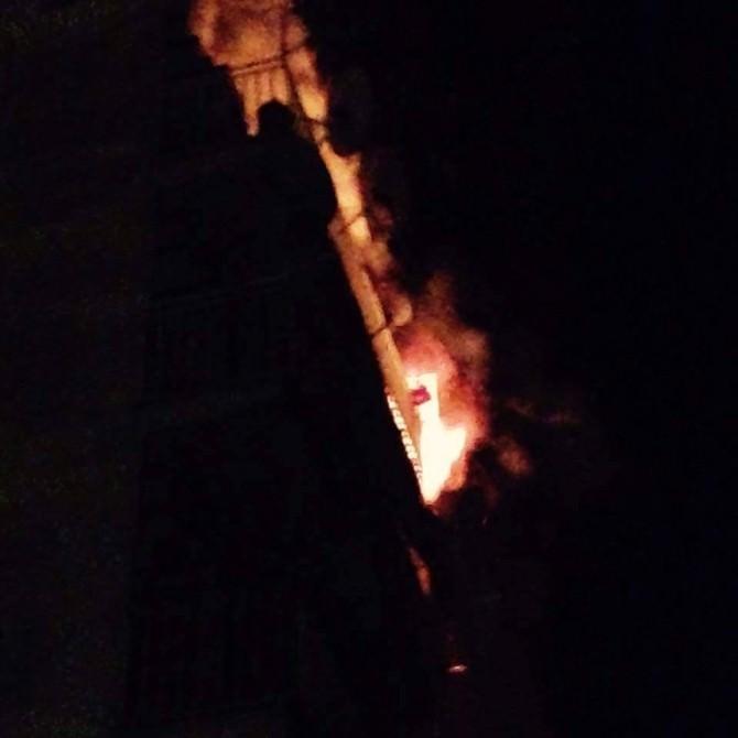 Tavşanlı'da 6 Katlı Apartmanda Çıkan Yangın Korkuttu