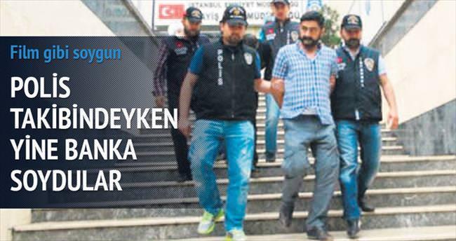 Polis takibindeyken yine banka soydular