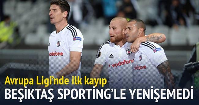 Beşiktaş Sporting'le yenişemedi