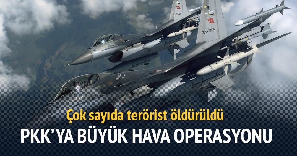 PKK'ya hava operasyonu: 35 terörist öldürüldü