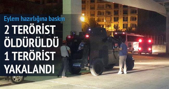 Eylem hazırlığına baskın: 2 terörist öldü, 1 terörist yakalandı