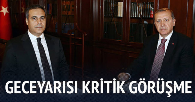 Erdoğan'dan gece yarısı sürpriz görüşme