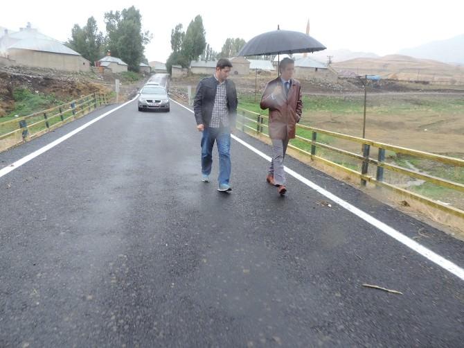 Eleşkirt'te Yol Asfaltlama Çalışması