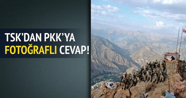 TSK'dan PKK'ya fotoğraflı cevap!