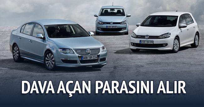 Volkswagen,Audi,Seat ve Skoda marka araçlara dava açan parasını alır